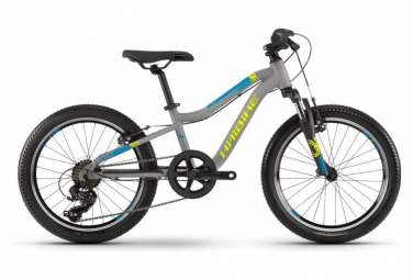 Haibike Seet Greedy 20'' Shimano Tourney 7S Kid Bike Grey / Lime / Blue