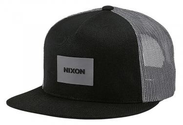 Nixon Team Trucker Hat Black Charcoal Grey