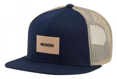 Image of Casquette trucker nixon team camo bleu marine beige
