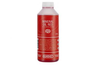 Huile Minérale Elvedes pour Système Hydraulique / 250 mL / Rouge (Shimano)