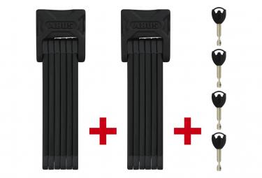 Foldable Anti-Theft Abus Bordo 6000/90 TwinSet Black + Support SH