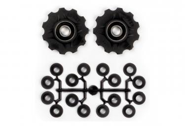 Elvedes Jockey Wheels X10 Kit With Spacers Black