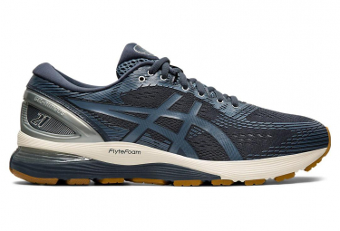 Asics Shoes Run Gel Nimbus 21 Blue Grey Gum