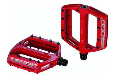 Pédales BBB plateforme CoolRide Rouge
