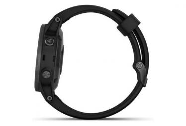 Garmin Fenix 5S Plus Sapphire GPS Watch HRM Tri with Black Band