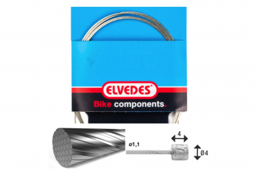Elvedes Gear Cable 2250 7x7 Stainless Slick 1.1 with Head N 4x4