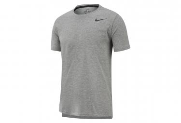 Maillot Manches Courtes Nike Dri-Fit Breathe Gris Homme