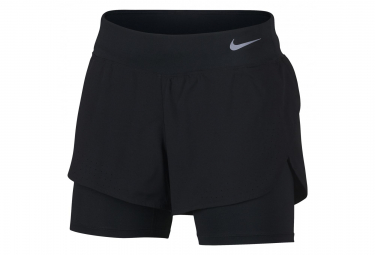 Short 2-en-1 Nike Eclispe 13cm Noir Femme