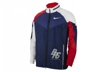 Nike Jacket Zip Track Jacket BRS Blue White Red Men