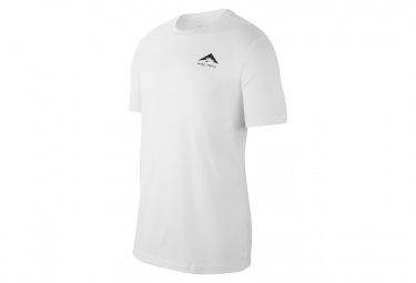 Nike Short Sleeves Jersey Dri-Fit Trail Logo White Men