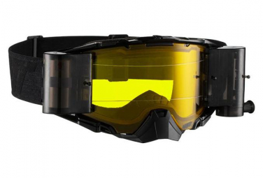Leatt Velocity 6.5 Roll Off Black / Gray Mask - Yellow Screen