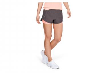 4c4c7a72a3 Under Armour Qualifier Speedpocket Women 2-in-1 Shorts Grey Pink