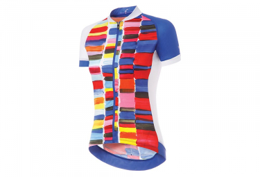 Zero rh+ Art Women Short Sleeves Jersey Blue Multicolor