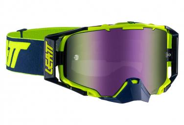 Masque Leatt Velocity 6.5 Roll Off Bleu/Jaune - Ecran Violet