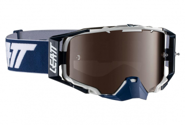 Masque Leatt Velocity 6.5 Roll Off Iriz Bleu/Blanc - Ecran Platinium