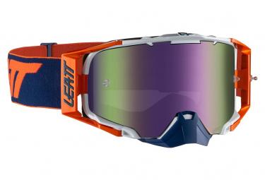 Leatt Velocity 6 5 Roll Off Iriz Mask Naranja   Azul   Pantalla Purpura
