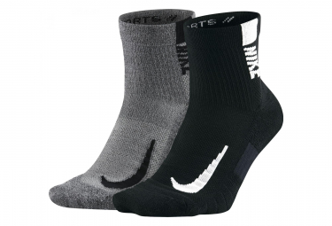 Nike Multiplier (2 Pairs) Black Grey Unisex