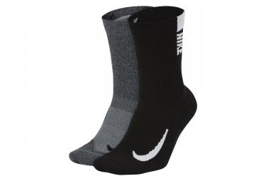 Paire de Chaussettes Nike Multiplier (2 Paires) Noir Gris Unisex
