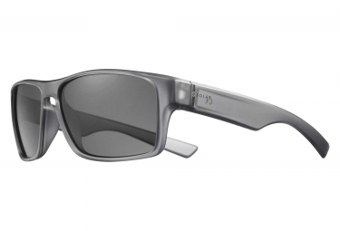 Solar Wesley Sunglasses Translucent Grey / Black Polarized