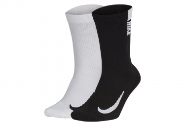 Nike Multiplier (2 Pairs) Black White Unisex