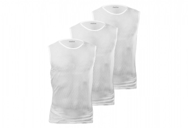 GripGrab Ultralight Sleeveless Mesh Baselayer 3PACK White