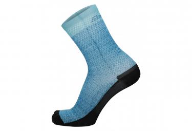 Chaussettes Imprimées Santini Ritmo Bleu