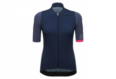 SANTINI GENIO Short Sleeve Wommen Jersey Blue