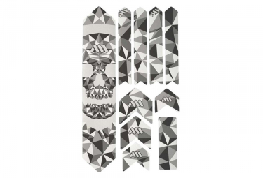 All Mountain Style Honeycomb XL 10 pcs Frame Guard Kit - Skull / Clear
