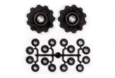 Elvedes Jockey Wheels x2 Kit with Spacers Black