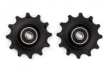Elvedes Pair of Jockey Wheels 2 x 12 Narrow Wide Bearings