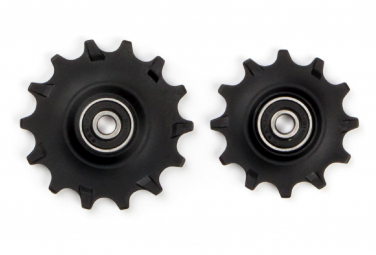 Elvedes Pair of Jockey Wheels 1 x 12t + 1 x 14t Narrow Wide Bearings