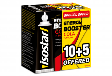 Gels Energétiques Isostar Energy Booster Cola 15x20g