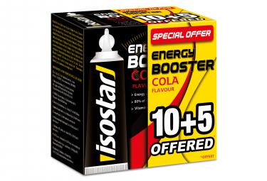 Gels Energétiques Isostar Energy Booster Cola 15x20g