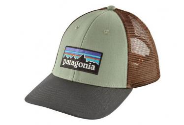 Patagonia P-6 Logo LoPro Trucker Hat Green Brown