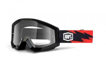 Masque VTT 100% STRATA Goggle Slash - Clear Lens