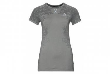 Odlo Ceramicool Blackcomb Short Sleeve T Shirt Grey Silver Black L