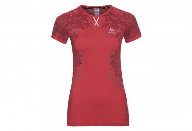 Odlo Ceramicool Blackcomb Short Sleeve T-Shirt Red