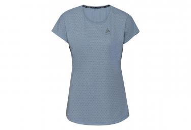 T-Shirt Manches Courtes Femme Odlo Millennium Linencool Faded Denim