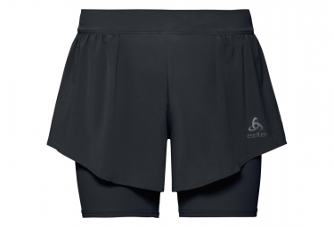 Odlo Zeroweight Ceramicool Pro 2-In-1 Shorts Black