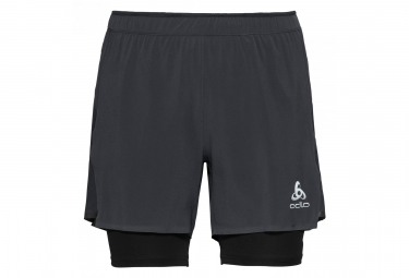 Odlo Zeroweight Ceramicool Pro 2 In 1 Shorts Black