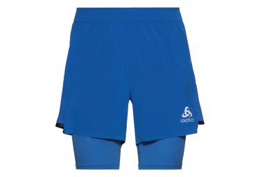 Odlo Zeroweight Ceramicool Pro 2-In-1 Shorts Nebulas Blue