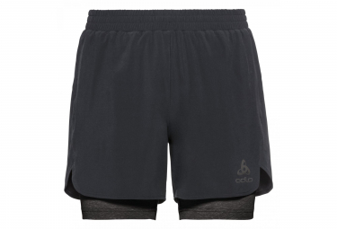 Short 2-en-1 Odlo Millennium Linencool Pro Noir