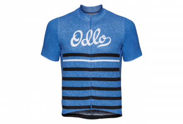 Odlo Element Short Sleeves Full Zip Jersey Print Blueretro