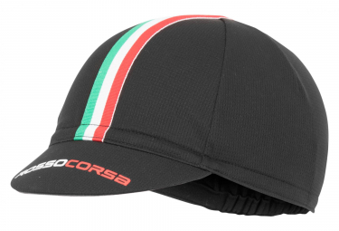 Castelli Rosso Corsa Vintage Cap Black