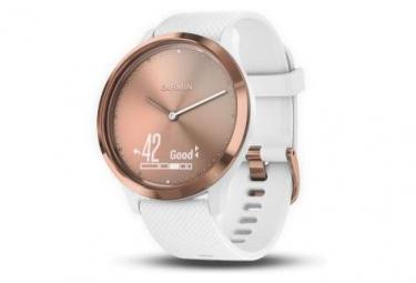 Montre Connectée Garmin Vívomove HR Cuivre avec Bracelet en Silicone Blanc