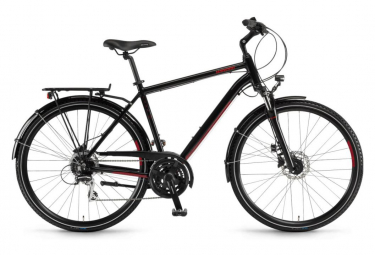 Winora Domingo Hybrid Bike Noir / Rouge
