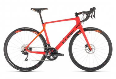 Vélo de Route Cube Agree C:62 Race Disc Shimano Ultegra 11V 2019 Rouge / Orange