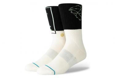 Stance Socks Mid-High Step Up Black / White