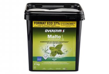 Boisson Energétique OVERSTIMS Malto Antioxydant Menthe 2Kg