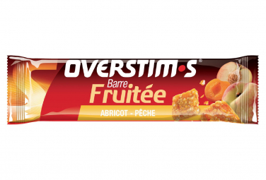 Image of Barre energetique overstims fruitee abricot peche
